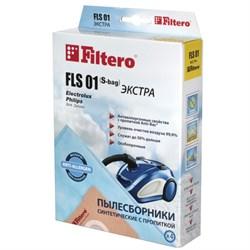 Мешки-пылесборники Filtero FLS 01 ЭКСТРА, 4 шт, синтетические - фото 4512