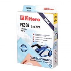 Мешки-пылесборники Filtero FLZ 07 ЭКСТРА, 4 шт, синтетические для Bork, Zelmer - фото 4522