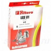 Мешки-пылесборники Filtero LGE 01 Standard, 5 шт, бумажные для LG, Cameron, Clatronic, Scarlett, Polar, Evgo