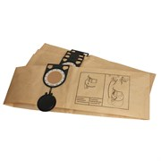 Комплект оригинальных бумажных пылесборников для пылесосов METABO  AS20 l, AS 1200, ASA 1201 -  5 шт.