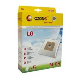 Набор пылесборников из микроволокна Ozone microne M-08 5шт для пылесосов LG - фото 11277