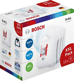 "Мешки-пылесборники Bosch 17002095 PowerProtect, тип ""G-ALL"", 16 шт - фото 11419"