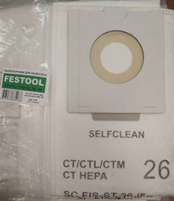 Синтетические пылесборники  Original для пылесоса FESTOOL тип 496 187 (5 шт) - фото 12197