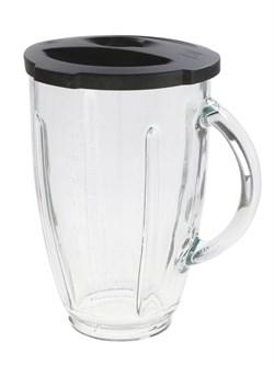 Стеклянный стакан блендера с крышкой без цоколя и ножа Bosch 00700879 для MMB200.. - фото 13827