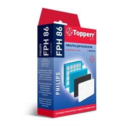 Набор фильтров Topperr 1145 FPH86 для пылесосов Philips - фото 20946