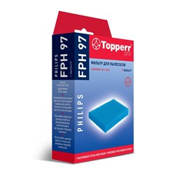 Губчатый фильтр Topperr FPH 97 для пылесосов Philips - фото 20950