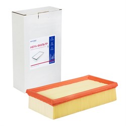 Euro Clean KHPMY-NT35/1 (6.904-367) Плоский складчатый фильтр повышенной фильтрации целюлозный для Karcher NT35/1, Dewalt D 27901-27902 - фото 21584