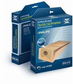 Набор бумажных пылесборников NeoLux PH-01 для Philips - фото 4121