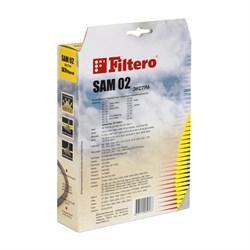 Мешки-пылесборники Filtero SAM 02 ЭКСТРА, 4 шт, синтетические - фото 4580