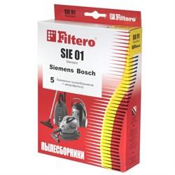 Набор бумажных пылесборников Filtero SIE 01 Стандарт 5шт  для пылесосов Bosch (тип G) - фото 4997