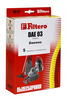 Мешки-пылесборники Filtero DAE 03 Standard, 5 шт, бумажные для Daewoo - фото 5333