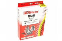 Мешки-пылесборники Filtero FLS 01 (S-bag) Standard, 5 шт, бумажные для Electrolux, Philips - фото 5335