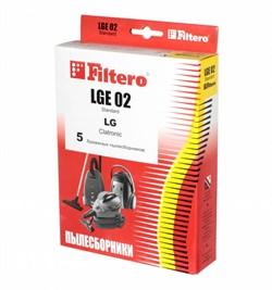 Мешки-пылесборники Filtero LGE 02 Standard, 5 шт, бумажные для LG, Clatronic, Rolsen - фото 5339