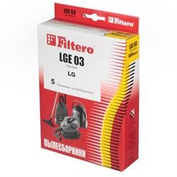 Мешки-пылесборники Filtero LGE 03 Standard, 5 шт, бумажные для LG, Clatronic, Rolsen - фото 5340