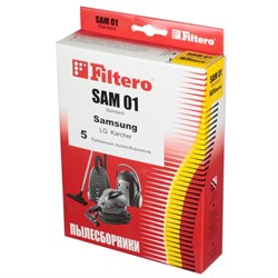 Мешки-пылесборники Filtero SAM 01 Standard, 5 шт, бумажные для Samsung, LG, Karcher, Hitachi, Vigor - фото 5345