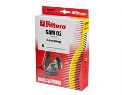 Мешки-пылесборники Filtero SAM 02 Standard, 5 шт, бумажные для Samsung, Bimatek, Bork, Cameron, Clatronic, DeLonghi - фото 5346