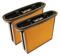 Фильтр складчатый из целлюлозы 2 шт. для пылесоса Bosch  GAS-50 - фото 5868