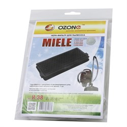 OZONE microne H-38 Фильтр с гранулами из активированного угля для пылесоса Miele тип SF-HA50  - фото 6575