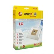 Набор пылесборников из микроволокна Ozone microne M-07 5шт для пылесосов LG