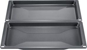 Bosch 17003020 HEZ530000 Противень эмалированный, серый, комплект из 2 шт.