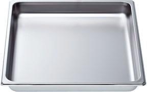 """Bosch 11027159 Неперфорированный лоток из нерж.стали, размер """"L"""", 354 x 325 x 40 мм"""