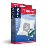Пылесборники Topperr ZM20 4шт + выпускной фильтр  для пылесосов Zelmer, Bork
