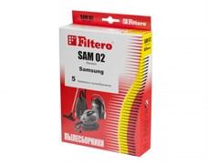 Мешки-пылесборники Filtero SAM 02 Standard, 5 шт, бумажные для Samsung, Bimatek, Bork, Cameron, Clatronic, DeLonghi
